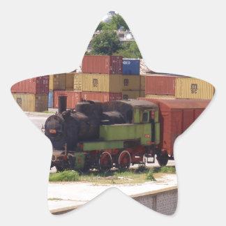 Disused Steam Train Star Sticker