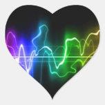 DITGITAL COLORS MUSIC HEARTBEATS ABSTRACT BACKGROU