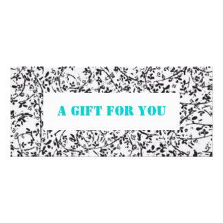 Ditsy2 gift certificate template personalized rack card