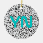 Ditsy2 monogram ornaments