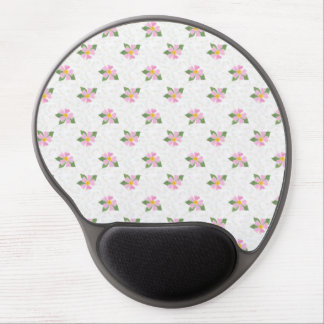 Ditsy Dog Rose Polka Style Gel Mousepad