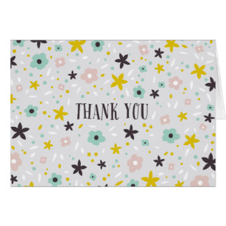 Ditsy Flower Thank You Note Card