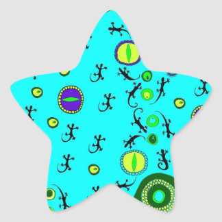 ditsy lizard eyes star sticker