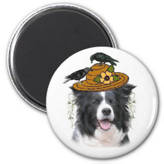 Ditzy Dogs~Border Collie Magnet~Halloween 6 Cm Round Magnet