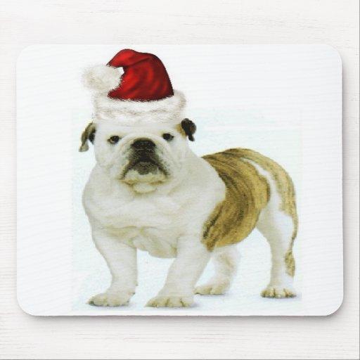 Ditzy Dogs~Original Mousepad~Bulldog~Christmas