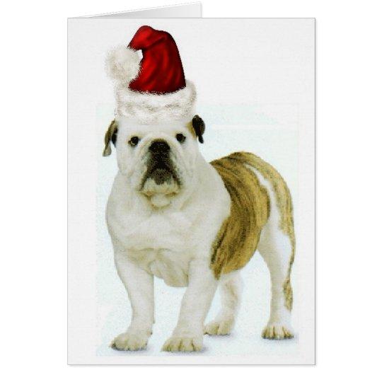 Ditzy Dogs~Original Notecard~Bulldog~Christmas Card