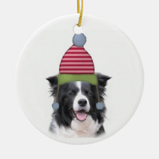 Ditzy Dogs~Original Ornament~Border Collie Christmas Ornament