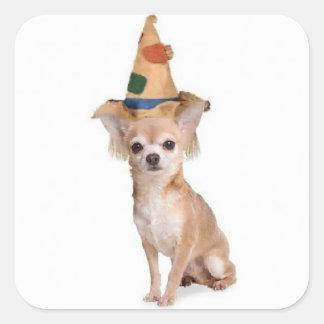 Ditzy Dogs~Original Sticker~Chihuahua~Halloween Square Sticker