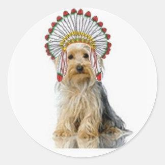 Ditzy Dogs~Original Sticker~Yorkie Classic Round Sticker