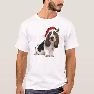 Ditzy Dogs~Original Tee~Bassett Hound~Christmas T-Shirt