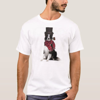 Ditzy Dogs~Original Tee~Border Collie~Winter T-Shirt