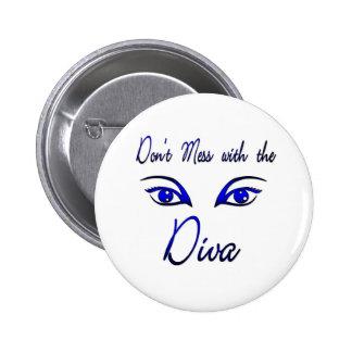 Diva! 6 Cm Round Badge