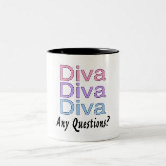 Diva Any Questions Mugs