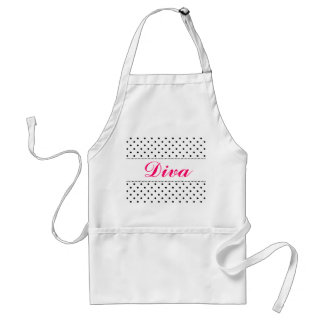 Diva apron for women   Personalizable by name