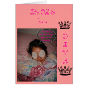 Diva birthday cards invitations zazzle diva birthday card bookmarktalkfo Images
