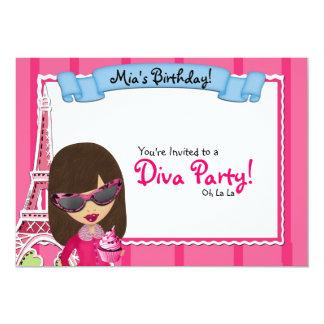 Diva Birthday Invitations