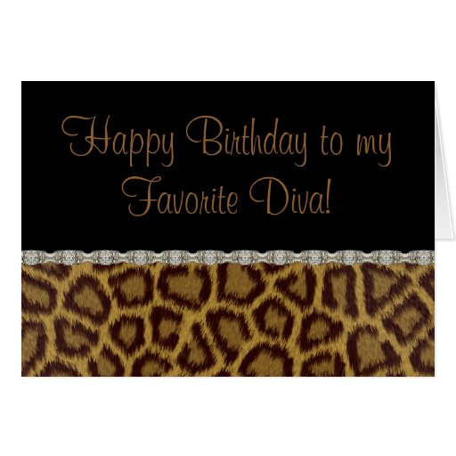 Diva Birthday Leopard Birthday Card
