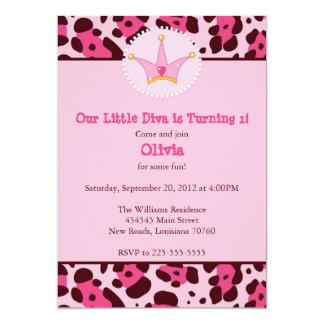 Diva Birthday Party 13 Cm X 18 Cm Invitation Card