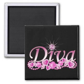 Diva Bling Square Magnet