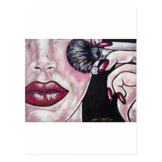 DIVA BLUSH BRUSH POSTCARD