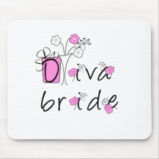 Diva Bride Mouse Pad
