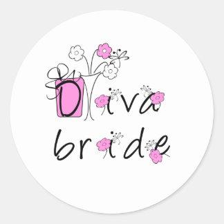 Diva Bride Round Sticker