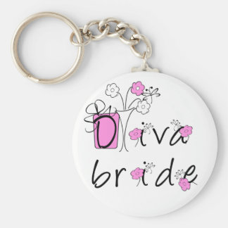 Diva Bride Tshirts and Gifts Keychains