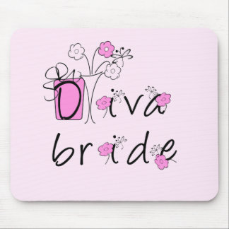 Diva Bride Tshirts and Gifts Mouse Pad