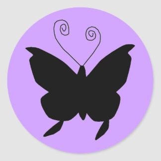Diva Butterfly Round Stickers