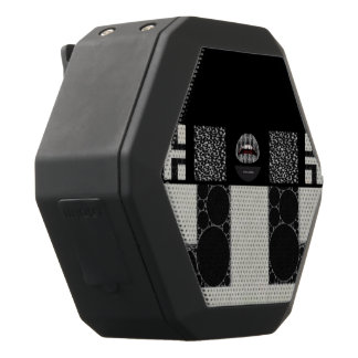 Diva Cheetah Abstract Monogram Black Boombot Rex Bluetooth Speaker