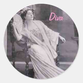 Diva Classic Round Sticker