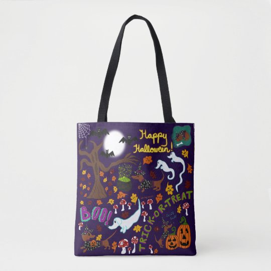 Diva Dachshund's Halloween Tote Bag