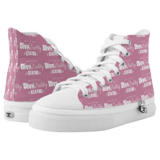 """Diva Daddy™ Movement"""" High Top Sneakers [pink&wh]"""