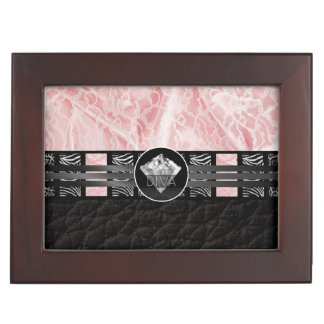 Diva Diamond Zebra Lace Memory Box
