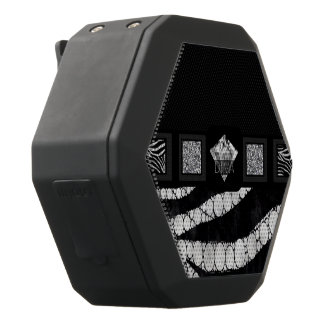 Diva Diamonds Zebra Bling Black Boombot Rex Bluetooth Speaker
