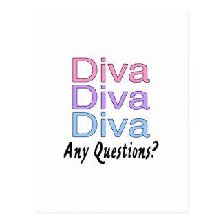 Diva Diva Diva Postcard