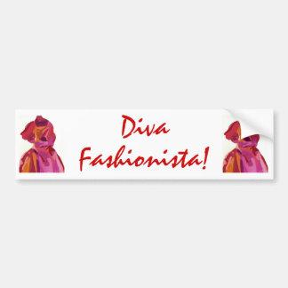 Diva Fashionista Autumn Reds Bumper Stickers