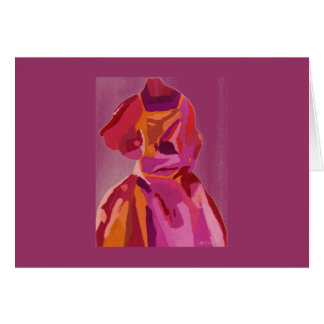 Diva Fashionista Autumn Reds Greeting Card