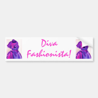 Diva Fashionista In Blue Bumper Stickers