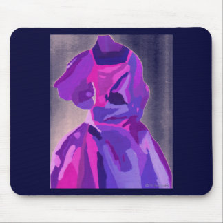 Diva Fashionista In Blue Mouse Pad