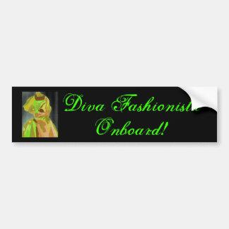 Diva Fashionista In Spring Bumper Sticker