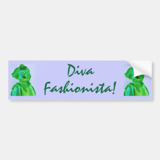 Diva Fashionista In Summer Bumper Sticker
