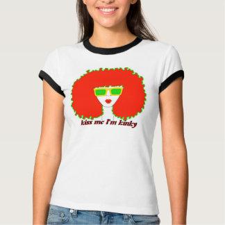 "Diva Fro ""Kiss Me I'm Kinky"" T-Shirt"