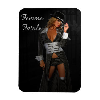 Diva Gangster Femme Fatale Rectangular Photo Magnet