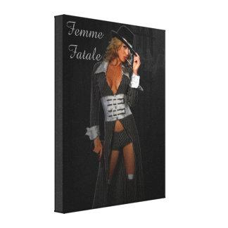 Diva Gangster Femme Fatale Stretched Canvas Prints