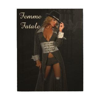 Diva Gangster Femme Fatale Wood Prints