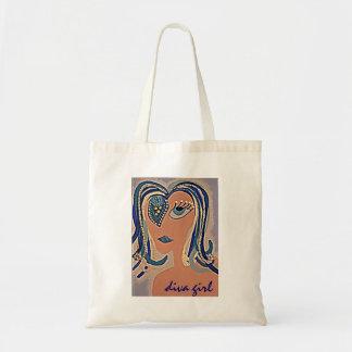 Diva Girl totebag Budget Tote Bag