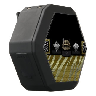 Diva Gold Lips Gold Zebra Black Boombot Rex Bluetooth Speaker