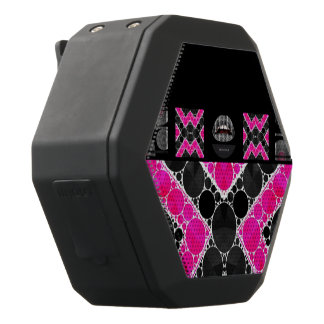 Diva Hot Pink Lips Bling Black Boombot Rex Bluetooth Speaker