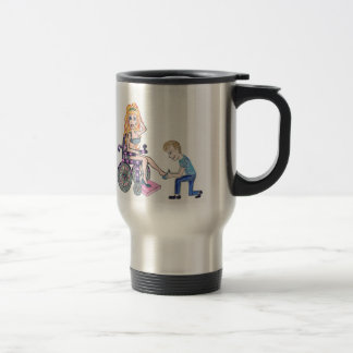 Diva in a wheel-chair with her Man at her feet Coffee Mug